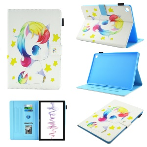 Multifunction Pattern Printing Leather Stand Tablet Cover Case for Huawei MediaPad M5 8 (8.4-inch) - Sitting Unicorn