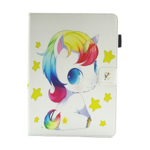 Multifunction Pattern Printing Leather Stand Tablet Protective Cover for Huawei MediaPad M3 Lite 10 - Sitting Unicorn