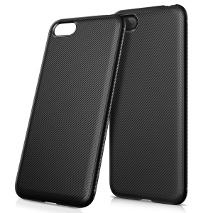 Twill Texture TPU Back Mobile Case for Huawei Y5 Prime (2018) / Y5 (2018) / Honor Play 7 - Black