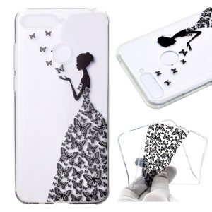 Patterned TPU Lightweight Phone Case Cover for Huawei Honor 7A (with Fingerprint Sensor)/Honor 7A Pro/Enjoy 8e - Butterfly Girl