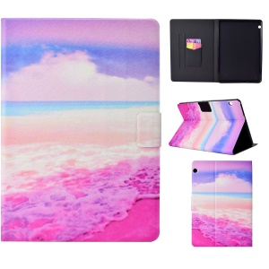 Pattern Printing Card Holder Stand Leather Tablet Phone Case for Huawei MediaPad T3 10 - Sea