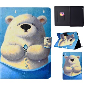 Pattern Printing Card Holder Stand Leather Casing Shell for Huawei MediaPad T3 10 - Polar Bear