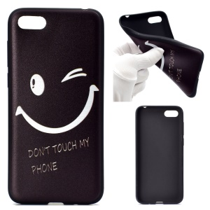 Patterned Printing Soft TPU Cell Phone Case for Huawei Y5 (2018) - Smile Face