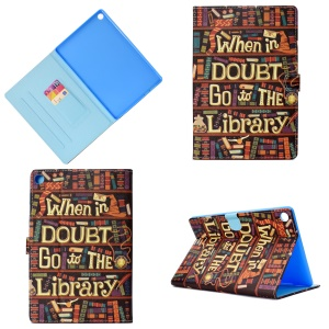 Pattern Printing Leather Stand Case for Huawei MediaPad M5 10 / M5 10 (Pro) - English Characters