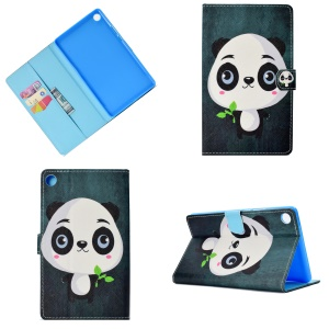 Pattern Printing Leather Stand Case for Huawei MediaPad M5 8 (8.4-inch) - Panda Pattern
