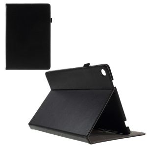 PU Leather Stand Card Holder Case with Hand Strap for Huawei MediaPad M5 10 / M5 10 (Pro) - Black