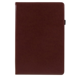 PU Leather Stand Card Holder Shell with Hand Strap for Huawei MediaPad M5 10 / M5 10 (Pro) - Brown