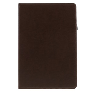 PU Leather Stand Card Holder Protective Case with Hand Strap for Huawei MediaPad M5 10 / M5 10 (Pro) - Coffee