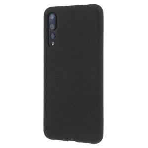 For Huawei P20 Pro Double-sided Matte TPU Mobile Phone Cover - Black