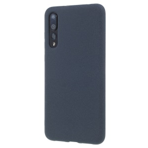 For Huawei P20 Pro Double-sided Matte Soft TPU Cell Phone Case Accessory - Dark Blue