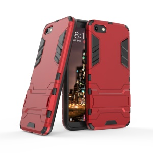 Red - Cool Guard Plastic TPU Hybrid Case with Kickstand for Huawei Y5 (2018) / Y5 Prime (2018)