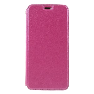 Auto-absorbed Card Holder Leather Protective Cover for Huawei P Smart / Enjoy 7S - Rose