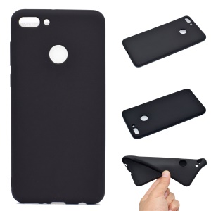 For Huawei Y9 (2018)/Enjoy 8 Plus Anti-fingerprint Matte TPU Gel Case Shell - Black
