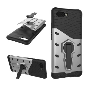 Armor PC + TPU Hybrid Case with Kickstand for Huawei Honor 10 - Silver