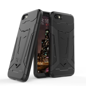 Armor PC + TPU Hybrid Kickstand Back Case for Huawei Y5 (2018) / Y5 Prime (2018) / Honor 7s / Play 7 - Black