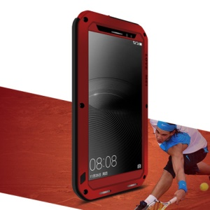 LOVE MEI Shockproof Dropproof Dustproof Case for Huawei Mate 8 / Ascend Mate8 - Red