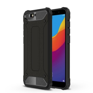 Armor Guard Plastic + TPU Hybrid Phone Case for Huawei Y6 (2018) / Honor 7A (without Fingerprint Sensor) - Black