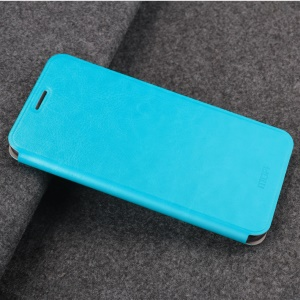 MOFI Rui Series Flip Leather Stand Mobile Phone Shell for Huawei Honor Play - Blue