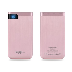 CAGER S55 5000mah Dual USB Externe Energienbank Für Iphone Samsung LG Huawei - Rosa