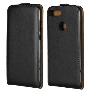 Vertical Flip Genuine Split Leather Case Accessory Huawei Honor 9 Lite/Honor 9 Youth Edition - Black