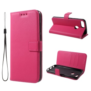 Portefeuille En Cuir Stand Case Pour Huawei P Smart / Enjoy 7S - Rose
