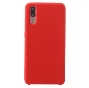 Silky Soft Touch Solid Silicone Phone Shell for Huawei P20 - Red
