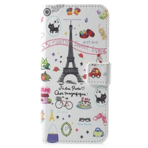 Pattern Printing PU Leather Wallet Stand Flip Casing for Huawei Y6 (2018)/Honor 7A (without Fingerprint Sensor) - Palettes Sweet Street