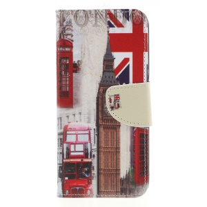 Cross Texture Patterned Leather Wallet Stand Mobile Case for Huawei Y6 (2018) / Honor 7A (without Fingerprint Sensor) - London Elements