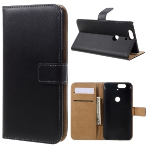 For Huawei Nexus 6P Split Genuine Leather Wallet Case Cover