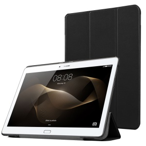 Tri-fold Stand Leather Case for Huawei MediaPad M2 - Black
