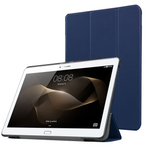 Tri-fold Stand Leather Case for Huawei MediaPad M2 - Dark Blue