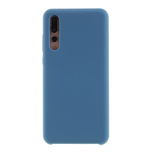 Silky Soft Touch Solid Silicone Phone Case for Huawei P20 Pro - Blue