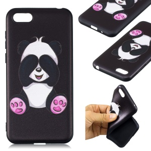 Embossment Patterned TPU Phone Accessory Shell for Huawei Y5 (2018) / Y5 Prime (2018) / Honor 7s / Play 7 - Lovely Panda