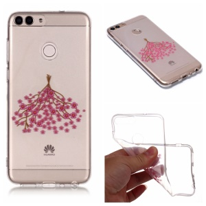 Pattern Printing IMD TPU Mobile Phone Shell for Huawei P Smart / Enjoy 7S - A Bunch Of Flower