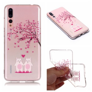Pattern Printing IMD TPU Phone Accessory Case for Huawei P20 Pro - Cute Animals and Tree