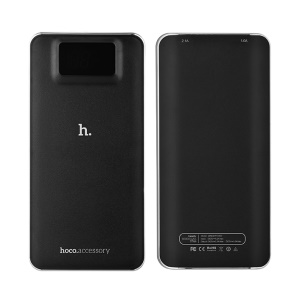 HOCO UPB05 10000mAh LCD Display Power Bank for iPhone Samsung - Black