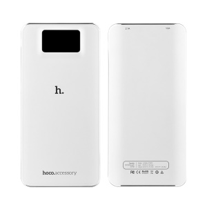 HOCO UPB05 10000mAh LCD Display Power Bank for iPhone Samsung - White