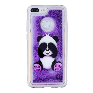 Pattern Printing Flowing Glitter Powder TPU Cell Phone Shell for Huawei Honor 9 Lite / Honor 9 Youth Edition - Panda