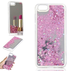 Glitter Dynamic Quicksand Mirror Surface TPU Case for Huawei Y5 (2018) / Y5 Prime (2018) / Honor 7s / Honor Play 7 - Pink