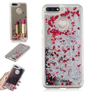 Glitter Floating Quicksand Mirror Surface TPU Casing for Huawei Honor 7A (with Fingerprint Sensor)/Honor 7A Pro/Enjoy 8e - Silver
