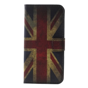 Pattern Printing PU Leather Magnetic Wallet Stand Cell Phone Shell for Huawei Honor  Y5 (2018) / Y5 Prime (2018) / Honor 7s / Play 7 - Flag of British