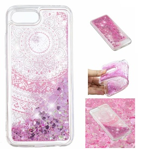 Pattern Printing Dynamic Glitter Powder Sequins TPU Cell Phone Shell for Huawei Honor 10 - Mandala