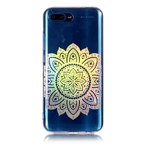 Colorful Laser Carving IMD Patterned TPU Cover for Huawei Honor 10 - Blossom Flower