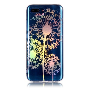 Colorful Laser Carving IMD Patterned TPU Back Cover for Huawei Honor 10 - Dandelion