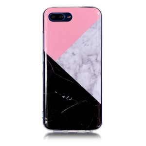 Pattern Printing IMD TPU Phone Casing for Huawei Honor 10 - Splicing Marble Pattern