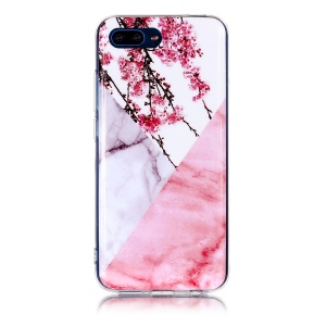 White / Pink Marble and Flowers
