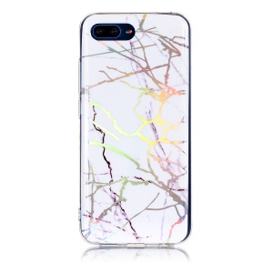 Marble Pattern Plated IMD TPU Mobile Phone Shell for Huawei Honor 10 - White