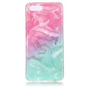 Pattern Printing IMD TPU Phone Case for Huawei Y5 (2018) / Y5 Prime (2018) / Honor 7s / Play 7 - Pink / Blue Marble