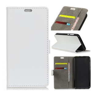 Wallet Leather Stand Cover for Huawei P Smart+ / nova 3i - White