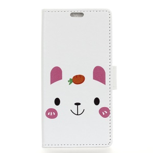 Pattern Printing Stand Leather Wallet Mobile Cover for Huawei nova 3i / P Smart+ - Cute Animal
